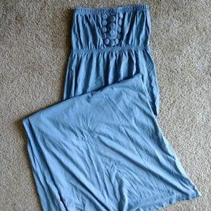 Sexy strapless maxi dress